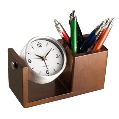 Asztali szett-óra,tolltartó
