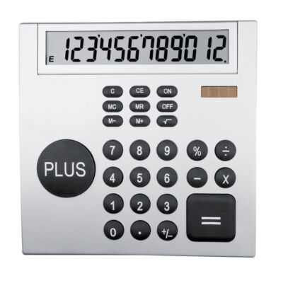 Ezüst színű számológép