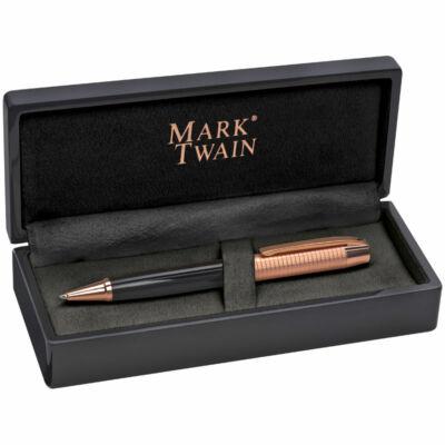 Mark Twain golyóstoll, tollkészlet lakk dobozban