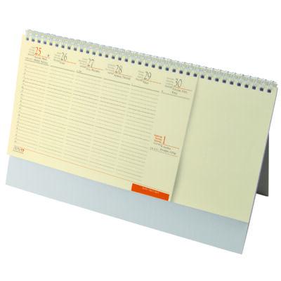 Álló asztali naptár blokktömbös chamois papír
