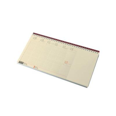 Fekvő asztali naptár blokktömbös chamois papír