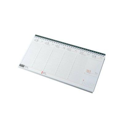 Fekvő asztali naptár fehér
