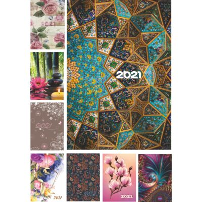 2021-es * PICTURE napi határidőnapló A5 méret (kattintson a képre a többi borító megtekintéséhez)