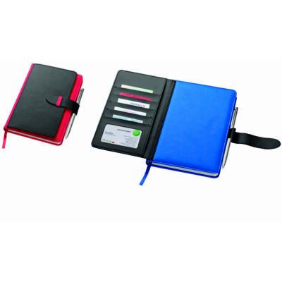 Divatos jegyzetfüzet A5 /kék és piros/