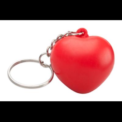 Szív alakú stresszlabda kulcstartóval