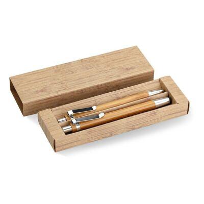 Bambusz ceruza és tollszett