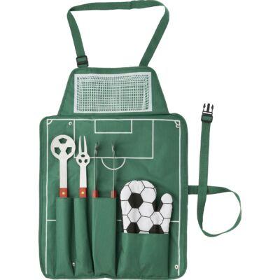 Focis grill kötény, focis kiegészítőkkel