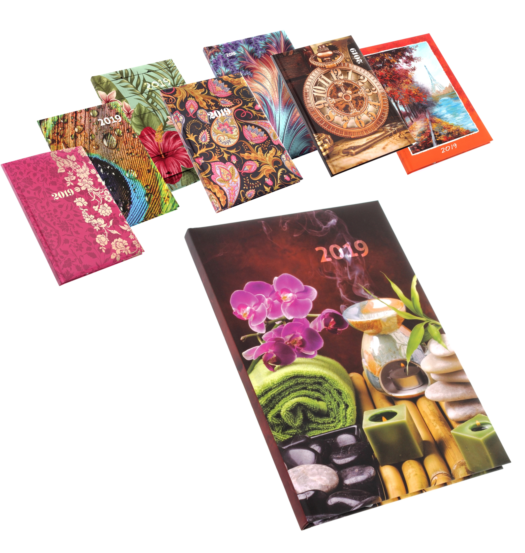 naptár 20192 heti határidőnapló B5 méretű színes képekkel a borítóján naptár 20192